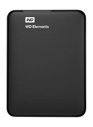 Western Digital 2TB HDD Element Portable Hard Disk, USB 3.0, Black