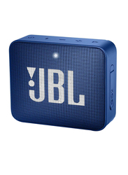 JBL GO 2 Water Submerge Resistant Wireless & Wired Portable Bluetooth Speaker, Blue