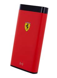 Ferrari 10000mAh FESPBW10KRE Power Bank, Red