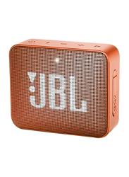 JBL GO 2 Water Submerge Resistant Wireless & Wired Portable Bluetooth Speaker, Orange