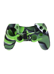 Silicone Case Cover for Sony Playstation PS4 Controller, Green/Black