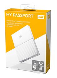 Western Digital 1TB HDD My PassportPortable Hard Drive, USB 3.0, WDBYNN0010BWT, White