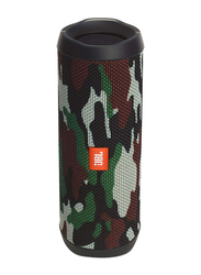 JBL Flip 4 Water Submerge Resistant Wireless & Wired Portable Bluetooth Speaker, Camouflage