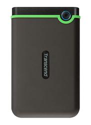 Transcend 2TB HDD Military Drop Standards TS2TSJ25M3 External Portable Hard Drive USB 3.0, Black