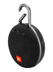 JBL Clip 3 Water Submerge Resistant Wireless & Wired Portable Bluetooth Speaker, Black