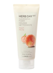 The Face Shop Herb Day 365 Peach Cleansing Foam, 170ml