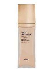 The Face Shop FMGT Gold Collagen Ampoule Foundation, 40ml, 201, Beige