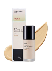 The Face Shop Ink Lasting Foundation Glow SPF30 PA++, N203 Natural Beige