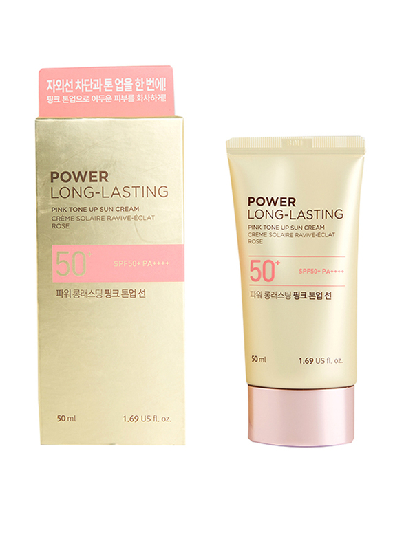 The Face Shop Power Long Lasting Pink Tone Up Sun Cream SPF50+ PA++++, 50ml