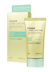 The Face Shop Power Long Lasting Green Tone Up Sun Cream SPF50+ PA++++, 50ml