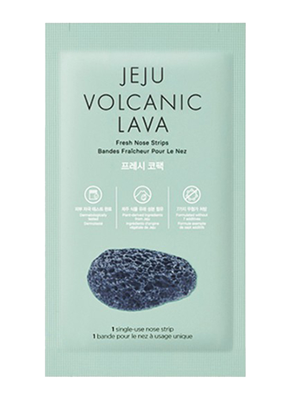 The Face Shop Jeju Volcanic Lava Fresh Nose Strips, 7 Pieces