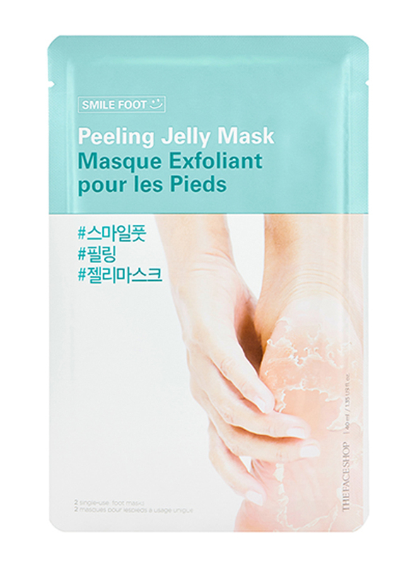 The Face Shop Smile Foot Peeling Jelly Mask, 40ml