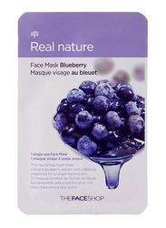 The Face Shop Real Nature Blueberry Sheet Mask, 30ml