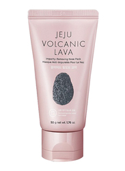 The Face Shop Jeju Volcanic Lava Impurity Removing Nose Pack, 50gm, 2 Pieces