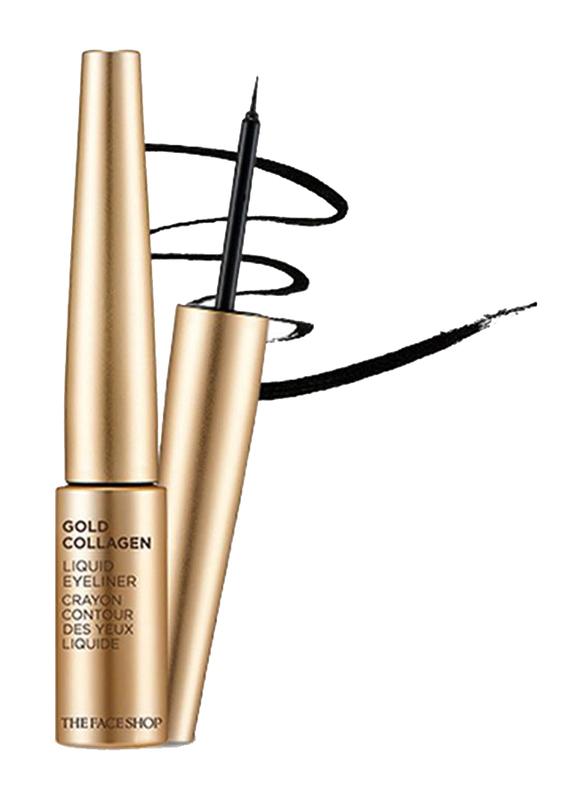 The Face Shop Gold Collagen Liquid Eyeliner, 6g, 01 Black