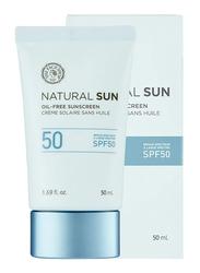 The Face Shop Natural Sun Oil-free Sunscreen Broad Spectrum SPF 50 , 50ml