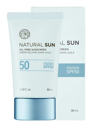 The Face Shop Natural Sun Oil-free Sunscreen Broad Spectrum SPF 50 , 50ml