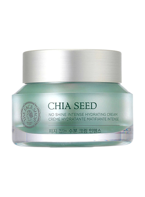 The Face Shop Chia Seed No Shine Intense Hydrating Cream, 50ml