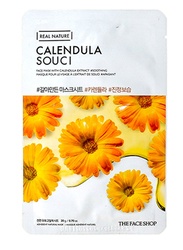 The Face Shop Real Nature Snow Calendula Sheet Mask, 30ml