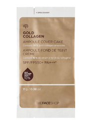 The Face Shop FMGT Gold Collagen Ampoule Cover Cake Refill, 203, Beige