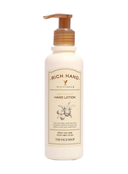 The Face Shop Rich Hand V Soft Touch Hand Lotion, 200ml
