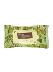 The Face Shop Herb Day Lip & Eye Remover Wipes, 30 Wipes