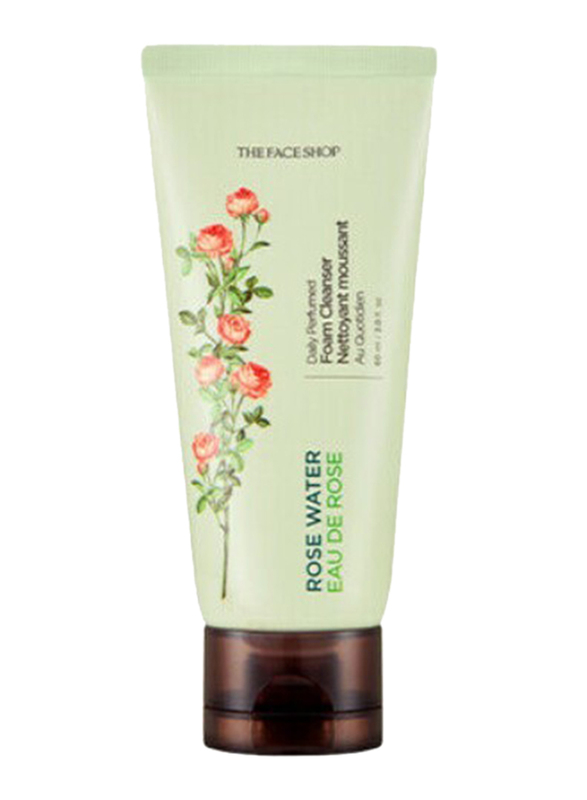 The Face Shop Daily Perfumed Rose Water Foam Cleanser, 60ml