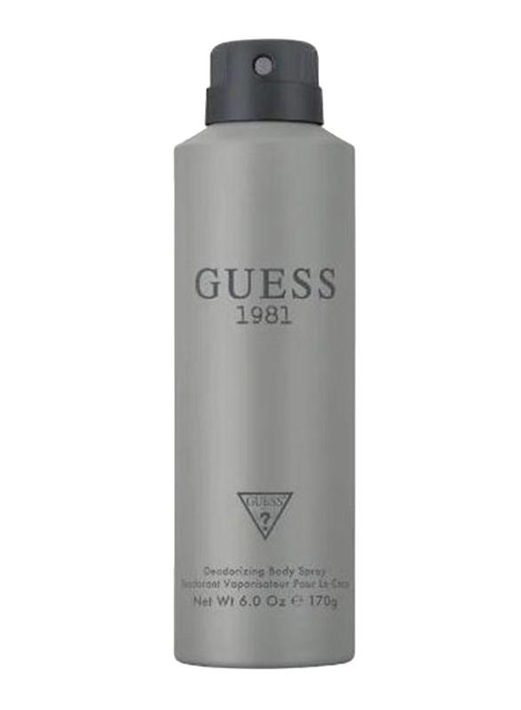Guess 1981 Deodorant Body Spray for Men, 170g