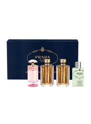 Prada 4-Piece Perfume Set for Women, Candy 9ml EDP, Florale 7ml EDT, La Femme L'Eau 9ml EDT, Les Infusions De Prada 8ml