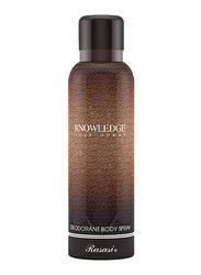 Rasasi Knowledge Deodorant Body Spray for Men, 200ml