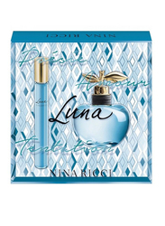 Nina Ricci 2-Piece Luna Perfume Set for Women, 50ml EDT, 10ml EDT Roll On