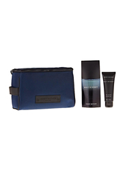 Issey Miyake 3-Piece Nuit D'issey Set for Men, 125ml EDT, 75ml Shower Gel, Toiletry Bags