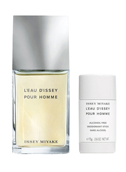 Issey Miyake 2-Piece L'eau D'issey Gift Set for Men, 100ml EDT, 75gm Deodorant Stick