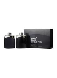 Mont Blanc 2-Piece Legend Perfum Set for Men, Legend 100ml EDT, After Shave Lotion 100ml