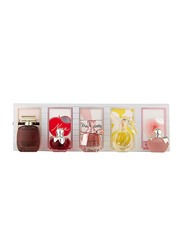Nina Ricci 5-Piece Miniatures Perfume Gift Set for Women, L'air Du Temps 4ml EDT, Mademoiselle Ricci 4ml EDP, Nina L'eau Eau Fraiche 4ml EDT, Nina 4ml EDT, L'extase 4ml EDP