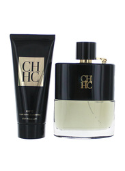 Carolina Herrera 2-Piece Travel Set for Men, Prive 100ml EDT, Prive 100ml After Shave Balm