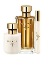 Prada 3-Piece La Femme Gift Set for Women, 100ml EDP, 10ml Mini EDP, 100ml Body Lotion