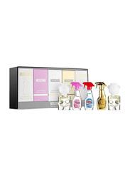 Moschino 5-Piece Miniature Collection Gift Set for Women, Toy 2 Mini Deluxe Mini 5ml EDP, Fresh Couture Deluxe Mini 2 x 5ml EDT, Fresh Gold Couture Deluxe Mini 5ml EDT, Toy 2 Mini Deluxe 5ml EDP