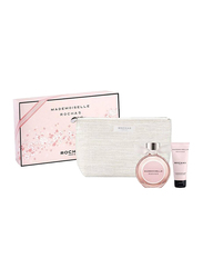 Rochas 3-Piece Mamoiselle Rochas Gift Set for Women, 90ml EDP, 100ml Body Lotion With Toiletry Pouch