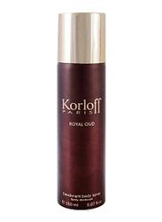 Korloff Royal Oud 150ml Deodorant Spray Unisex