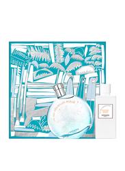Hermes 2-Piece Eau des Merveilles Bleue Gift Set for Women, 100ml EDT, 80ml Body Lotion