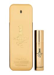 Paco Rabanne 2-Piece 1 Million Perfume Travel Set for Men, 100ml EDT, 10ml EDT