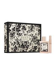 Gucci 2-Piece Bloom Nettare Di Fiori Intense Perfume Set for Women, 100ml EDP, 7.4ml Rollerball