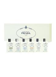 Prada 6-Piece Perfume Miniature Set for Women, Iris 8ml EDP, Iris Cedre 8ml EDP, Fleur D'oranger 8ml EDP, Amande 8ml EDP, Oeillet 8ml EDP, Vetiver 8ml EDP