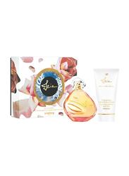 Sisley 2-Piece Izia Gift Set for Women, 100ml EDP, 150ml Moisturizing Perfumed Body Lotion