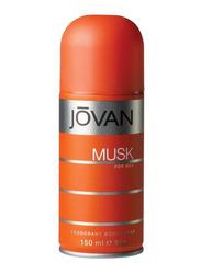 Jovan Musk Deodorant Body Spray for Men, 150ml