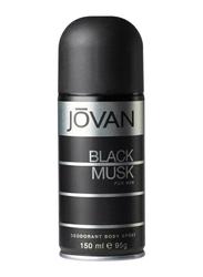 Jovan Black Musk Deodorant Body Spray for Men, 150ml