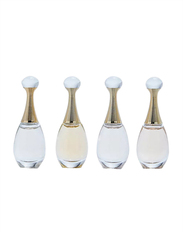 Dior 4-Piece Perfume Set for Women, Jadore L'Absolue 5ml EDP, Jadore 5ml EDP, Jadore 5ml EDT, Jadore in Joy 5ml EDP