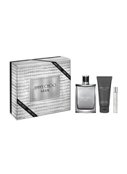 Jimmy Choo 3-Piece Man Gift Set for Men, 100ml EDT, 7.5ml EDT, 100ml Aftershave Balm
