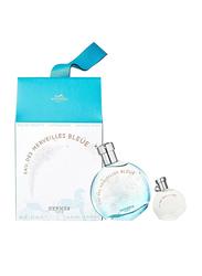 Hermes 2-Piece Hermes Eau De Merveilles Bleue Perfume Set for Women, 100ml EDT, 7.5ml EDT